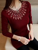 cheap Women's Sweaters-Women's Long Sleeves Pullover - Solid Colored