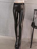 tanie Getry-Damskie Jednokolorowe Legging - Solidne kolory / Jednokolorowe Wysoki
