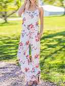 cheap Women's Jumpsuits & Rompers-Women's Holiday Cotton Jumpsuit - Color Block, Print / Spring / Summer / Floral