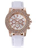 זול שעוני יוקרה-בגדי ריקוד נשים שעון יד Chinese צג גדול עור להקה יום יומי / אופנתי / מינימליסטי שחור / לבן / כחול / שנה אחת / SSUO CR2025