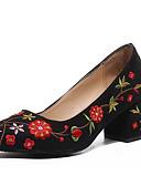 cheap Mother of the Bride Dresses-Women's PU(Polyurethane) Spring / Summer Comfort Heels Block Heel Black / Dark Brown / 2-3
