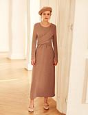 זול חצאית-מותניים גבוהים מקסי אחיד - שמלה טוניקה וינטאג' בגדי ריקוד נשים