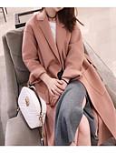 preiswerte Damenmäntel und Trenchcoats-Damen - Solide Mantel, V-Ausschnitt Baumwolle überdimensional
