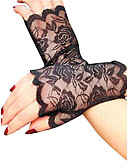 cheap Historical & Vintage Costumes-Women's Party Lace Wrist Length Fingerless Gloves