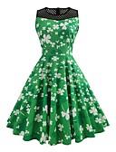 رخيصةأون فساتين للنساء-فستان نسائي متموج عتيق طباعة طول الركبة خصر عالي مناسب للحفلات