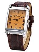 cheap Quartz Watches-JUBAOLI Men's Women's Wrist Watch Quartz Casual Watch Cool Leather Band Analog Brown - Brown