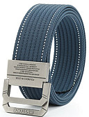 abordables Cinturones a la Moda-Hombre Oro Piel Cinturón de Cintura - Trabajo Un Color