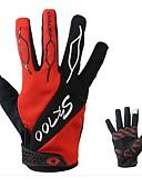 זול מכנסיים ושורטים לגברים-כפפות ספורט/ פעילות שמור על חום הגוף לביש מתיחה על כל האצבע עור ניילון לייקרה רכיבה על אופניים / אופנייים יוניסקס