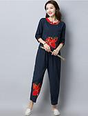 זול שמלות נשים-מכנס פרחוני - סט בגדי ריקוד נשים / סתיו