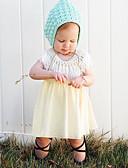 baratos Vestidos para Bebês-bebê Para Meninas Simples Sólido Sem Manga Vestido / Bébé