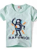 baratos Camisas para Meninos-Para Meninos Camiseta Pintura Verão Algodão Manga Curta Simples Verde Branco Cinzento Verde Claro