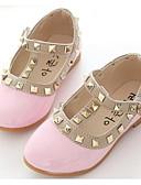 זול שמלות נשים-בנות נעליים דמוי עור אביב / סתיו נוחות / נעליים לילדת הפרחים שטוחות ל שחור / אדום / ורוד