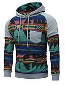 cheap Men's Hoodies & Sweatshirts-Men's Long Sleeve Hoodie Print Hooded Black L / Winter