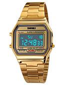 ieftine Ceasuri Digitale-SKMEI Bărbați Ceas Sport Ceas de Mână Ceas digital Japoneză Digital 30 m Rezistent la Apă Alarmă Calendar Oțel inoxidabil Bandă Piloane de Menținut Carnea Casual Argint / Auriu / Roz auriu - Argintiu