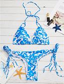 povoljno Bikini i kupaći 2017-Žene Cvijetan Na vezanje oko vrata Bikini - Print
