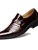 זול מכנסיים ושורטים לגברים-נעלי נוחות עור פטנט אביב / סתיו עסקים נעליים ללא שרוכים שחור / חום / מסיבה וערב