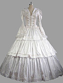 cheap Gloves-Rococo / Victorian Costume Women's Outfits White Vintage Cosplay Satin Long Sleeve