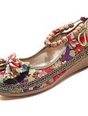 cheap Women's Dresses-Women's Shoes Rubber Spring / Fall Comfort Flats Flat Heel Black / Red