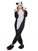 cheap Women's Hats-Adults' Kigurumi Pajamas Panda Onesie Pajamas Polar Fleece Synthetic Fiber Black / White Cosplay For Men and Women Animal Sleepwear Cartoon Festival / Holiday Costumes