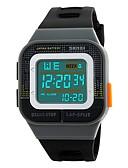 זול שעוני ילדים-SKMEI לזוג שעוני ספורט דיגיטלי 50 m עמיד במים לוח שנה כרונוגרף סיליקוןריצה להקה דיגיטלי יום יומי אופנתי צבעוני שחור / ירוק - שחור אפור אדום / שעון עצר / זוהר בחושך