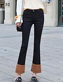זול מכנסיים לנשים-בגדי ריקוד נשים כותנה ג'ינסים מכנסיים אחיד