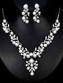 preiswerte Hochzeitsschleier-Damen Schmuck-Set - Perle Europäisch, Modisch Einschließen Silber Für Hochzeit Alltag