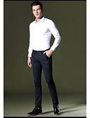 זול מכנסיים ושורטים לגברים-בגדי ריקוד גברים בסיסי סקיני מכנסיים אחיד