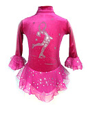 cheap Ice Skating Dresses , Pants & Jackets-Figure Skating Dress Women's / Girls' Ice Skating Dress Peach / Violet Spandex Stretchy Competition Skating Wear Sequin Long Sleeve Figure Skating