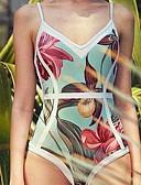 tanie Bikini i odzież kąpielowa 2017-Damskie Pasek Jednoczęściowy Drukowanie