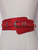cheap Women's Belt-Women's Active Basic Leather Waist Belt - Solid Colored