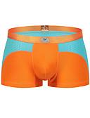 cheap Men's Exotic Underwear-Men's Boxers Underwear Color Block 1 Piece