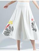 זול מכנסיים לנשים-מכנסיים רגל רחבה פוליאסטר מיקרו-אלסטי גיזרה בינונית (אמצע) דפוס פשוט סתיו בגדי ריקוד נשים