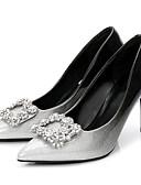 preiswerte Abendkleider-Damen Schuhe Lackleder Frühling / Herbst Pumps High Heels Stöckelabsatz Spitze Zehe Strass Schwarz und Silbern / Schwarz / Rot / Kleid