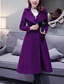 olcso Kabát & Viharkabát-Állógallér Női Kabát - Egyszínű