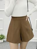 זול מכנסיים לנשים-בגדי ריקוד נשים כותנה שורטים מכנסיים - גיזרה גבוהה אחיד