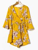 ieftine Costum Damă Două Bucăți-Pentru femei Activ Bluză - Floral, Pantaloni În V / Vară