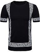 billige Herreskjorter-Rund hals T-skjorte Herre Gatemote Hvit L / Kortermet / Vår / Sommer