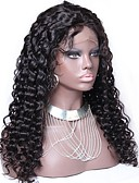 cheap Women's Tops-Unprocessed Human Hair / Virgin Human Hair / Human Hair Glueless Lace Front / Lace Front Wig Brazilian Hair Curly / Jerry Curl Wig With Baby Hair 130% Natural Hairline / 100% Virgin / Unprocessed