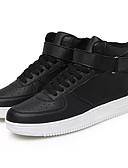 hesapli Erkek Blazerları ve Takım Elbiseleri-Erkek Ayakkabı PU Bahar Sonbahar Hafif Tabanlar Spor Ayakkabısı Günlük için Beyaz Siyah Siyah/Beyaz