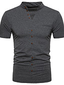 cheap Men's Blazers & Suits-Men's Street chic Polo Stand / Short Sleeve