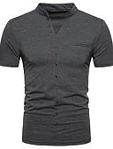 お買い得  メンズTシャツ&タンクトップ-男性用 Polo ストリートファッション スタンド / 半袖