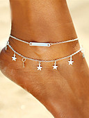 cheap Fashion Belts-Anklet - Star Bohemian, Fashion, Boho Gold / Silver For Gift / Going out / Bikini / Women's