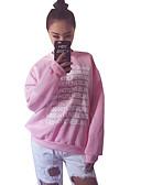 preiswerte Damen Kapuzenpullover & Sweatshirts-Damen Buchstabe Alltag Sport Pullover Kurz Langarm Rundhalsausschnitt Frühling Herbst Baumwolle
