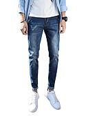 ieftine Pantaloni Bărbați si Pantaloni Scurți-Bărbați Șic Stradă Mărime Plus Size Bumbac Skinny Blugi Pantaloni Mată