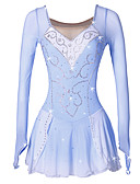 cheap Ice Skating Dresses , Pants & Jackets-Figure Skating Dress Women's / Girls' Ice Skating Dress Blue / White Spandex High Elasticity Performance Skating Wear Handmade Classic / Fashion Ice Skating / Figure Skating