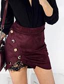 tanie Damska spódnica-Damskie Bodycon Spódnice - Wyjściowe Solidne kolory Koronka