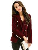 olcso Női ruhák-Munka Állógallér Női Blézer - Egyszínű