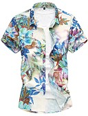 cheap Men's Shirts-Men's Cotton Shirt - Floral