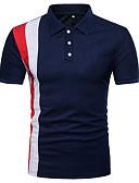 זול סוודרים וקרדיגנים לגברים-צווארון חולצה סגנון רחוב Polo-בגדי ריקוד גברים