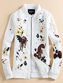 זול חולצות לגברים-פרחוני  בוטני עומד רגיל יומי מידות גדולות רגיל ג'קט בגדי ריקוד גברים, אביב סתיו דפוס פוליאסטר